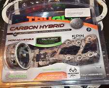 TruGlo Carbon Hybrid Micro Adjustable Archery Sight 5 pin Realtree w/ Light