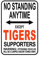 NRL West Tigers No Standing Except Tigers Supporters Sign Poster