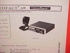 1978 CONVOY CB RADIO SERVICE SHOP MANUAL MODEL CON-450