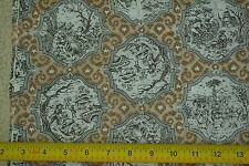 "By-the-Half-Yard, 45"", Black & Brown Toile du Jouy on Lt-Weight Cotton, C2171"
