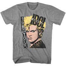 Billy Idol Pop art Tour 1987 Men's T shirt singer Punk musician merch Glam Rock