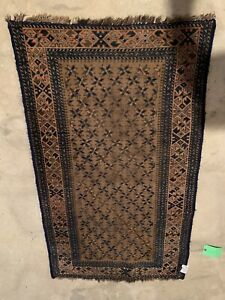 Antique Pers Rug, 1900, 2.8X4.7, Wool