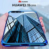COVER per Huawei Y6 2018 CUSTODIA ORIGINALE ELECTROPLATING Slim Morbida TPU Case