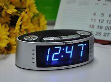 iTOMA Dual Alarm Clock Radio with AM FM, Auto Time Setting, Snooze, Sleep Timer