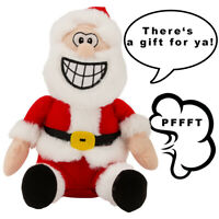 Farting Santa Animated Talking Toy Doll Plush For Christmas Decorations Gift