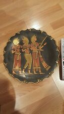 EGYPTIAN METAL DECORATIVE PLATE VINTAGE