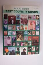 Alfred 2000-2005 Best Country Songs Piano Vocal Guitar Songbook