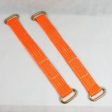 Vehicle Recovery Link Straps Wheel Bridging Oval Rings Trailer Transporter x 2