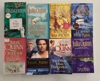 Lot of 8 Julia Quinn Books Bridgerton Series NEW-GUC