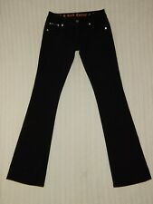 ROCK REVIVAL ― Womens 27 x 35 ― CELINE BOOT Flap Pocket Black Denim Jeans #246B