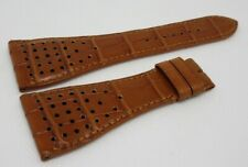 New Roger Dubuis G40 30mm Glossy Brown Alligator Strap XL Size OEM Genuine