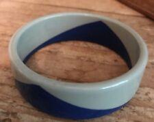 Lucite Grey And Blue Two Color Bangle Bracelet Vintage