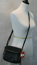 Relic by Fossil NWT Expandable Black Faux Leather Crossbody Bag