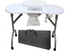 TABLE DE MANUCURE AVEC ASPIRATEUR PLIABLE TRASPORTABLE + SAC Ne pèse que 12 KG !