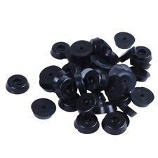 Tapis de pied de meuble en caoutchouc conique 15 x 18mm 40pcs Noir Q4A5