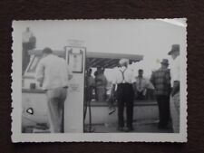 BOAT PULLED UP TO ESSO MARINE GAS PUMP Vintage 1950's PHOTO