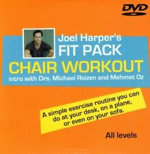 JOEL HARPER'S FIT PACK CHAIR WORKOUT DVD STRETCHING - DESK, PLANE EXERCISES NEW