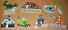 7 Different 1975-1977 DC and Marvel Vintage Plastic Magnets Super Heroes