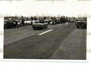MOTOR RACING PHOTO RUFFORTH AIRFIELD CIRCUIT PADDOCK NORTH YORKS VINTAGE 1962