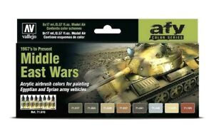 AV Vallejo Middle East Wars 1967 To Present Acrylic Colour Set For Models