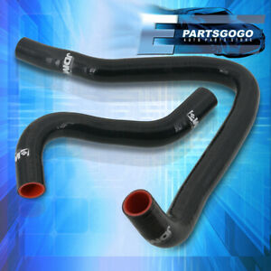 For 97-01 Honda Prelude H22A Accord F22 JDM 3Ply Silicone Radiator Hose Kit Bk