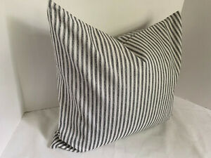 Pillow Cover Black and White Ticking Stripe Custom Made CHOOSE Size Many Sizes