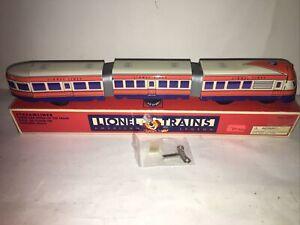 Schylling Lionel Trains Streamliner 3  Car Wind-Up Tin Diesel OB Works Key OB