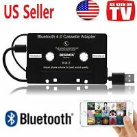 New Hot Bluetooth Cassette Car Music Audio Receiver Player Adapter Convert Black