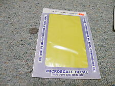 Microscale  decals 1/72 1/48 1/32 TF-36 trim film Kevlar Fiber 2 tone yell   ZZZ