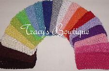 "Pick 12 Crochet 3"" Interchangeable Headbands for Korkers HairBows & Flower Clips"