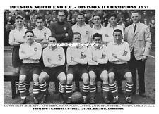 PRESTON NORTH END F.C.TEAM PRINT 1951 - DIV 2 CHAMPS