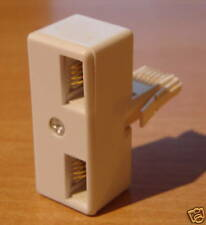 TELEPHONE ADAPTOR TWIN DOUBLE BT FAX MODEM