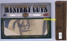 """2008 UPPER DECK MYSTERY CUTS AUTO: CHARLEY CHASE #1/1 CUT AUTOGRAPH """"COMEDIAN"""""""