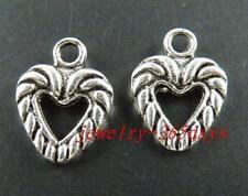 120pcs Tibetan Silver Heart Charms 13.5x10mm 1372