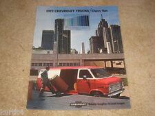 1972 Chevrolet Van G10 G20 G30 sales brochure ORIGINAL literature