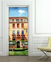 PT0028 Decorazione Adesiva bubble free per Porta arredo casa anta 100x210 cm