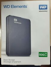 Western Digital Portable 500 GB, Elements esterna, 5400 RPM (WDBUZG 5000ABK-EESN) P