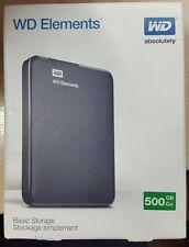 Western Digital Elements Portable 500GB,External,5400 RPM (WDBUZG5000ABK-EESN) P
