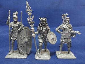 1:32 (54 mm) Tin Soldier Set - Ancient Roman Soldiers Set 1 - 3 figures #S54-11