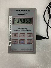 VWR 61220-601 DIGITAL DATA LOGGER THERMOMETER WITH PROBE * Tested*