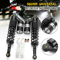 2x  380mm Motorrad ATV Stoßdämpfer Federbeine Hinten Für Honda Suzuki Yamaha DE