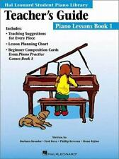 The Hal Leonard Student Piano Library Teacher's Guide Book 1 Lesson Plans
