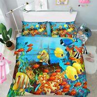 3D Magic Ocean 1 Bed Pillowcases Quilt Duvet Cover Set Single Queen King Size AU