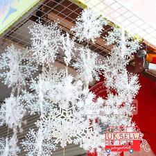 30Pcs Navidad Copos de nieve blancos Navidad Decoraciones de árboles Adornos11CM