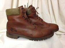 Timberland Men's Brown & Khaki Lace Up Plain Toe Casual/Work Derby Boots - US 12