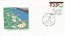 1988 World EXPO '88 Brisbane FDC - 11 September Canberra Day