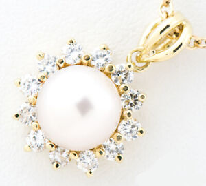 Tiffany & Co. Pearl Pendant Necklace 18K Yellow Gold tf2908