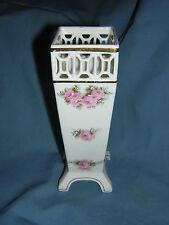 """Vintage """" RVR / GERMANY """" Signed & Numbered Bone China Porcelain Filigree Vase"""