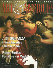 Arts & Antiques February 2000 French 40's Furniture Latin Art Scene Twachtman