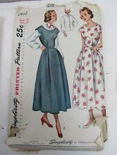Vintage Simplicity Sewing Pattern 2852 Woman's Dress - Size 15